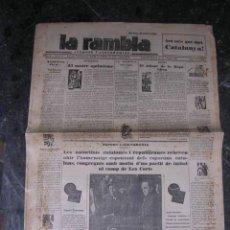 Militaria - REPUBLICA,-LA RAMBLA,PROCLAMACION DE LA REPUBLICA,20 ABRIL 1931-ILUSTRADO,14 PAG. 58X43 CM. - 18037185