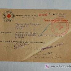 Militaria: CRUZ ROJA. COMUNICACIÓN DE ESTADO DE SALUD. 1937. MADRID-BURGOS. GUERRA CIVIL.. Lote 23472037