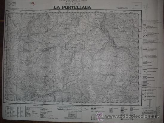 AGOSTO 1938 GUERRA CIVIL MAPA MILITAR DE LA PORTELLADA ( TERUEL) (Militar - Guerra Civil Española)