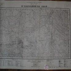 Militaria: 1938 GUERRA CIVIL MAPA MILITAR DE SAN SALVADOR DE TOLO (LÉRIDA). Lote 21736337