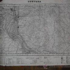Militaria: 1938 GUERRA CIVIL MAPA MILITAR DE TORTOSA. Lote 25700603