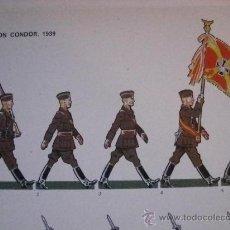 Militaria: COLECCION 40 LAMINAS UNIFORMES GUERRA CIVIL ESPAÑOLA LEGION CONDOR, REGULARES...... Lote 27778425
