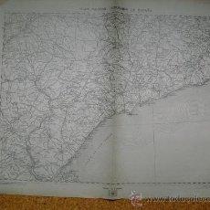 Militaria: 1937 GUERRA CIVIL MAPA MILITAR ITINERARIO HOJA 38 SITGES TORTOSA FRAGA. Lote 27423925