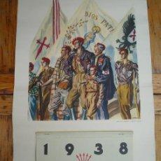 Militaria: CALENDARIO PROPAGANDÍSTICO CARLISTA. ÉPOCA GUERRA CIVIL 1936-39. Lote 26814002