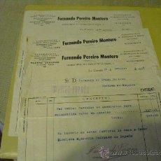 Militaria: 1936 GUERRA CIVIL TRES FACTURAS CUYO IMPORTE SE DONA AL EJERCITO. Lote 27473379