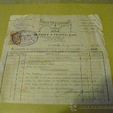 Militaria: 1936 FACTURA CON DONACION PARCIAL DE SU IMPORTE AL EJERCITO. Lote 26237971