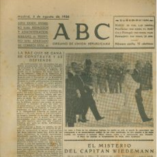 Militaria: ABC MADRID 6 AGOSTO 1938. BANDO REPUBLICANO. VER DESCRIPCION.. Lote 22564394