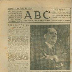 Militaria: ABC MADRID 29 JULIO 1938. BANDO REPUBLICANO. VER DESCRIPCION.. Lote 22867682