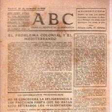 Militaria: ABC MADRID 26 NOVIEMBRE 1938. BANDO REPUBLICANO. VER DESCRIPCION.. Lote 22866963