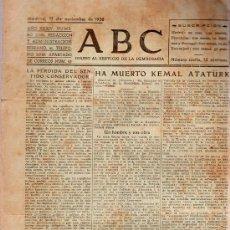 Militaria: ABC MADRID 11 NOVIEMBRE 1938. BANDO REPUBLICANO. VER DESCRIPCION.. Lote 22867006