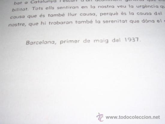 vanguardias, 1937,manifest del casal de la cult - Comprar ...