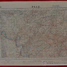 Militaria: ANTIGUO MAPA DE FLIX. EDICION MILITAR. TAMAÑO GRANDE.. Lote 25923717