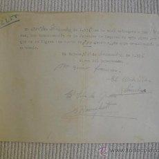 Militaria: ENERO 1937 RECIBO RECEPCION MULTA DE 750 PESETAS. Lote 26189834