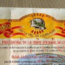 Militaria: CONCESION MEDALLA DE LA PAZ, 25 AÑOS DE LA VICTORIA, EX COMBATIENTES, UNION NACIONAL, 1964. Lote 26402029