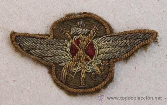 EMBLEMA, ROKISKI DE PILOTO AVIACION LEGIONARIA ITALIANA GUERRA CIVIL (BORDADO) (Militar - Guerra Civil Española)