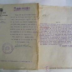 Militaria: 1936 ESCRITO DE GOBERNADOR CIVIL SOBRE MULTA Y CONTESTACION. Lote 27818376