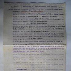 Militaria: 1938 DECLARACION JURADA DE ALFEREZ PROVISIONAL. Lote 27820998