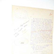 Militaria: 1938 ESCRITO DE LA GUARDIA CIVIL SOLICITANDO DEVOLUCION DE PISTOLA PRESTADA POR ESCASEZ DE LAS MISMA. Lote 27860681