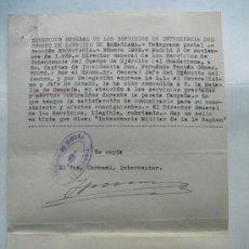 Militaria: 1939 COPIA DE LA COMUNICACION DE CONCESION DE LA MEDALLA DE CAMPAÑA. Lote 27866933