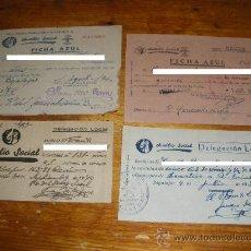 Militaria: AUXILIO SOCIAL FICHAS AZULES Y DONATIVOS. . Lote 28389888