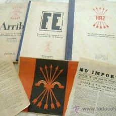 Militaria: LOTE COMPUESTO POR FACSIMILES DE EPOCA. DE ARRIBA,HAZ ,F.E. Y OTROS DOCUMENTOS. Lote 28530600