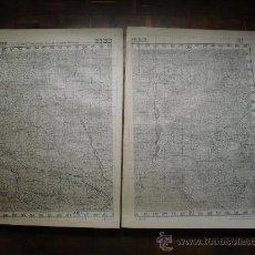 Militaria: EDICIÓN ESPECIAL DE JUNIO DE 1937 EN DOS HOJAS DEL MAPA DE BIESCAS 95X136 CMS EJERCITO REPUBLICANO. Lote 28872090