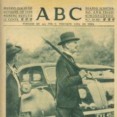 Militaria: ABC DE MADRID 19 DE OCTUBRE DE 1939. Lote 29616979