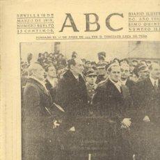 Militaria: ABC 18 DE MARZO DE 1939. CONDE CIANO EN POLONIA.. Lote 29621009