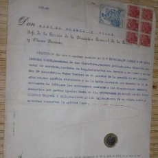 Militaria: DOCUMENTO DE GUERRA CIVIL. Lote 29991326