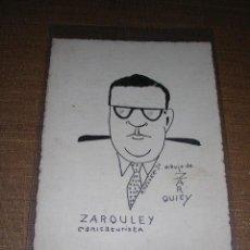 Militaria: DIBUJO A PLUMA ORIGINAL DE CARICATURISTA ZARCULEY ,R. TELLEZ 1936, - 12,5X9 CM. . Lote 30289779