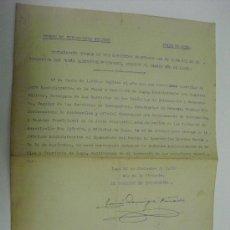 Militaria: 1939 DECLARACION JURADA DE LOS SERVICIOS PRESTADOS POR UN TENIENTE. Lote 31192326