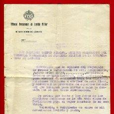 Militaria: DOCUMENTO GUERRA CIVIL, CERTIFICADO VISITAS A PRISIONES MILITARES DE LEVANTE, ENERO 1939,ORIGINAL. Lote 31320761