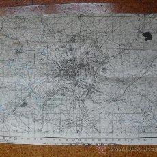 Militaria: MAPA DE MADRID DEL EJERCITO NACIONAL COPIA MODIFICADA DE UN MAPA DEL EJERCITO REPUBLICANO. Lote 31398252