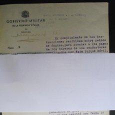 Militaria: NOVIEMBRE 1936 ORENSE APLICACION DE LA SUSCRIPCION DE ACCION CIUDADANA A DIVERSOS PAGOS. Lote 31578689