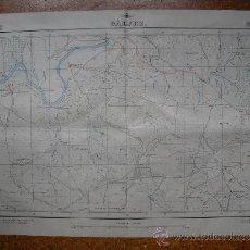 Militaria: GUERRA CIVIL MAPA DE GALVEZ 2 DEL EJERCITO DEL AIRE E 1:25.000 CON TODAS LAS DEFENSAS REPUBLICANAS. Lote 31611811