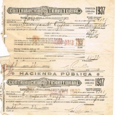 Militaria: CONTRIBUCIÓN TERRITORIAL 1937. Lote 32228801