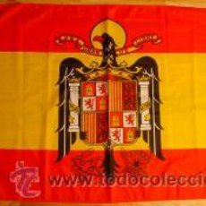 Militaria: BANDERA DE ESPAÑA AGUILA SAN JUAN EPOCA FRANCO. Lote 184593473