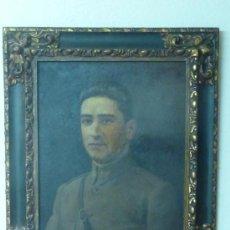 Militaria: OLEO DEL CAPITAN REPUBLICANO GARCIA HERNANDEZ DE 1931. DEL FAMOSO PINTOR JOAQUIN DIEGUEZ.. Lote 32409327