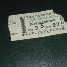 Militaria: ENTRADA DEL TEATRO CINE AVENIDA DE BURGOS, BUTACA DE PREFERENCIA. 1938 GUERRA CIVIL.. Lote 33243804