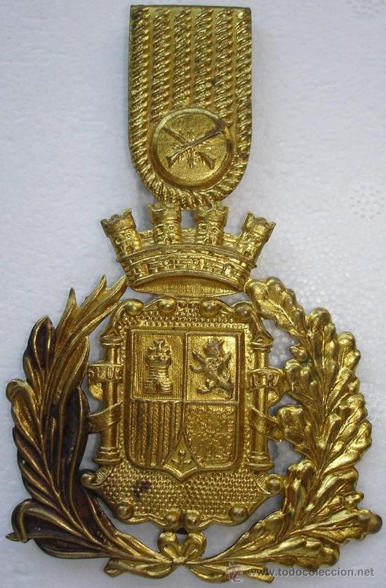 CHAPA DE ROS CARABINEROS REPUBLICA. MARCAGE AGUILA (Militar - Guerra Civil Española)