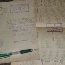 Militaria: VICESECRETARIA DE EDUCACION POPULAR, DELEGACION DE JAEN. VISADO POR CENSURA.. Lote 33677230
