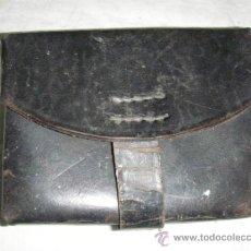 Militaria: CARTUCHERA DE CUERO NEGRO GUERRA CIVIL. Lote 34038559