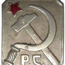 Militaria: INSIGNIA PARTIDO COMUNISTA. GUERRA CIVIL. Lote 34781878