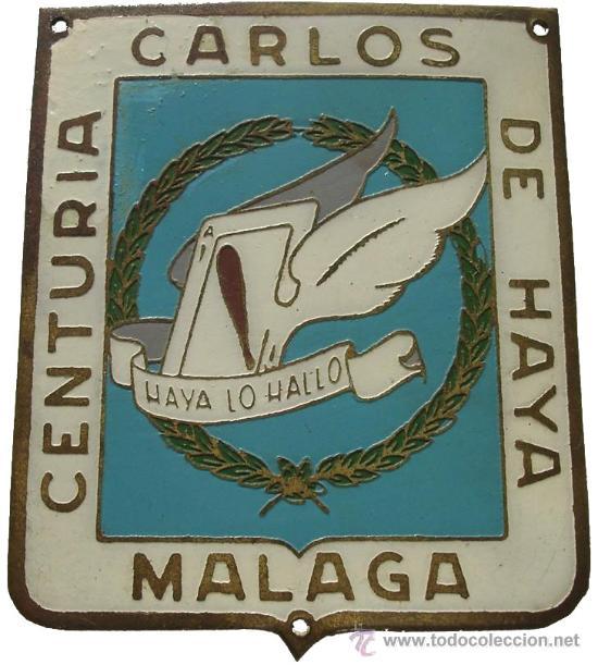 CHAPA BRAZO ORIGINAL GRUPO AS DE BASTOS AVIACION LEGIONARIA CENTURIA CARLOS DE HAYA GUERRA CIVIL (Militar - Guerra Civil Española)