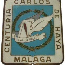 Militaria: CHAPA BRAZO ORIGINAL GRUPO AS DE BASTOS AVIACION LEGIONARIA CENTURIA CARLOS DE HAYA GUERRA CIVIL. Lote 34989948