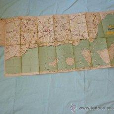 Militaria: MAPA REPUBLICA..MALAGA..ALMERIA ..GRANADA ..CANARIAS ..COLORES BANDERA REPUBLICA..1931-39... Lote 35009544