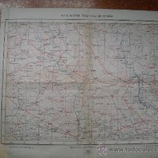 Militaria: 1939 GUERRA CIVIL MAPA MILITAR ITINERARIO CUARTEL GENERAL DEL GENERALÍSIMO HOJA 56. Lote 35379062