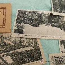 Militaria: DESFILE DE LA VICTORIA 1936..VALENCIA..TANQUES ,TROPAS, SERIE DE 15 SOBRE ORIGINAL.. Lote 35494708