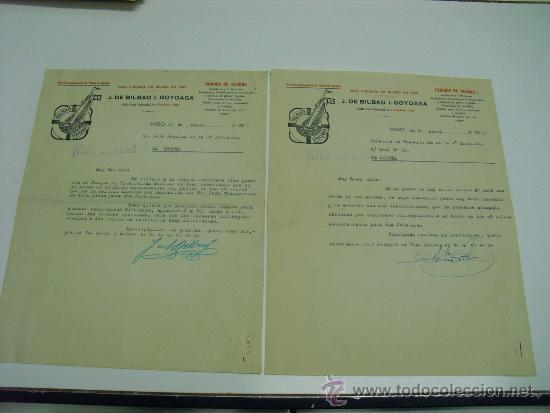 1937 CORRESPONDENCIA COMERCIAL SOBRE FABRICACION ABASTECIMIENTOS (Militar - Guerra Civil Española)