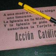 Militaria: OCTAVILLA DE ACCION CATOLICA, GUERRA CIVIL. ARTES GRAFICAS TORRES, TOLEDO.. Lote 36600981